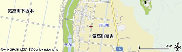 鳥取県鳥取市気高町冨吉周辺の地図