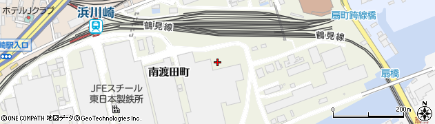 神奈川県川崎市川崎区南渡田町周辺の地図