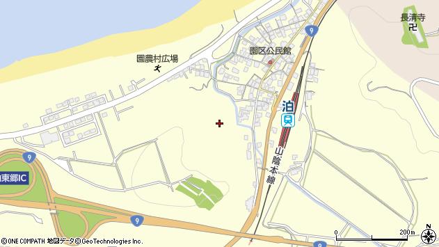 〒689-0605 鳥取県東伯郡湯梨浜町園の地図