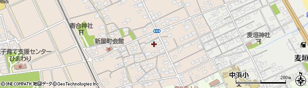 鳥取県境港市新屋町周辺の地図