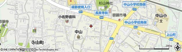 神奈川県横浜市緑区中山町周辺の地図