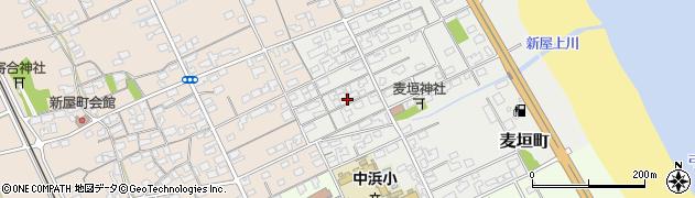 鳥取県境港市麦垣町周辺の地図