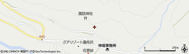岐阜県中津川市神坂周辺の地図