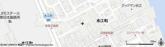 神奈川県川崎市川崎区水江町周辺の地図