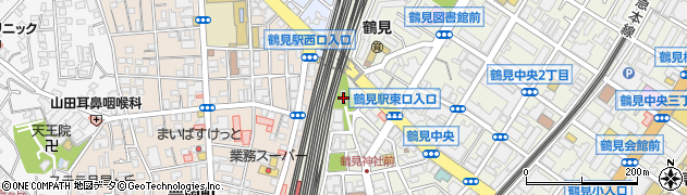 鶴見神社周辺の地図