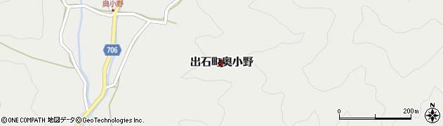 兵庫県豊岡市出石町奥小野周辺の地図