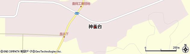 兵庫県豊岡市神美台周辺の地図