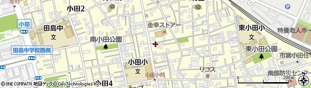 神奈川県川崎市川崎区小田周辺の地図