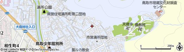 鳥取県鳥取市湯所町周辺の地図