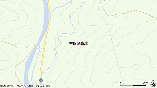 〒667-1365 兵庫県美方郡香美町村岡区高津の地図