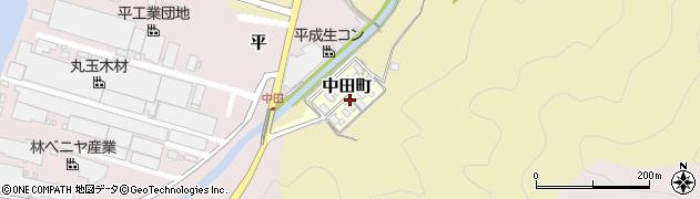 京都府舞鶴市中田町周辺の地図