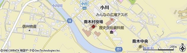 長野県喬木村(下伊那郡)周辺の地図