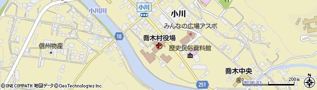 長野県下伊那郡喬木村周辺の地図