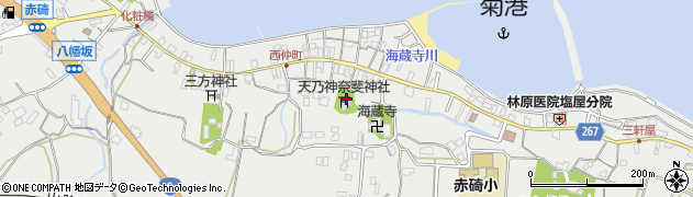 天乃神奈斐神社周辺の地図