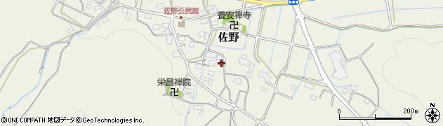 岐阜県岐阜市佐野周辺の地図