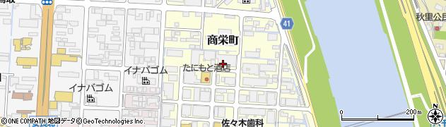 鳥取県鳥取市商栄町周辺の地図