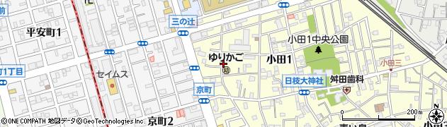 神奈川県川崎市川崎区小田1丁目周辺の地図