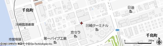 神奈川県川崎市川崎区千鳥町周辺の地図