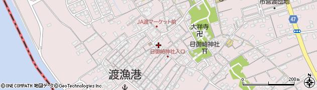 鳥取県境港市渡町周辺の地図