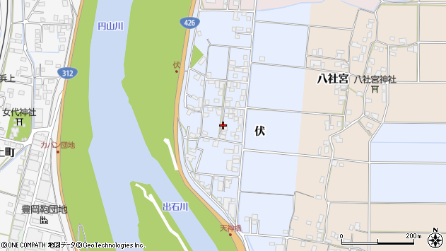 〒668-0855 兵庫県豊岡市伏の地図