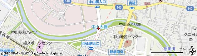 中山大橋周辺の地図