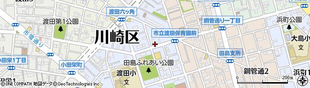 神奈川県川崎市川崎区田島町周辺の地図