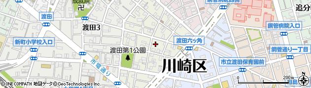 神奈川県川崎市川崎区渡田東町周辺の地図