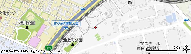 神奈川県川崎市川崎区池上町周辺の地図