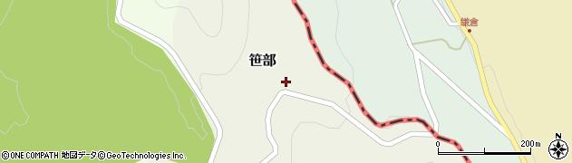 京都府舞鶴市笹部周辺の地図