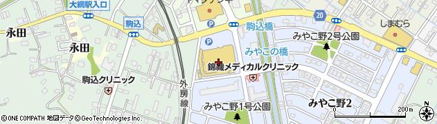 千葉銀行大網白里ショッピングセンター ATM周辺の地図
