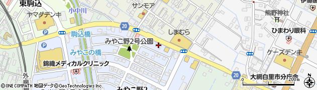 千葉興業銀行大網支店 ATM周辺の地図