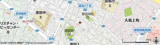 神奈川県川崎市川崎区渡田周辺の地図