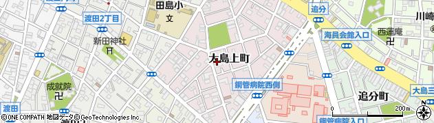 神奈川県川崎市川崎区大島上町周辺の地図