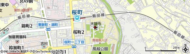 大雄寺周辺の地図