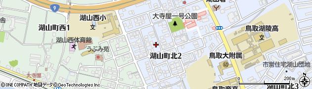 鳥取県鳥取市湖山町周辺の地図