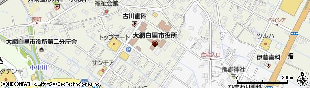 千葉県大網白里市周辺の地図