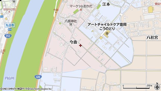〒668-0851 兵庫県豊岡市今森の地図