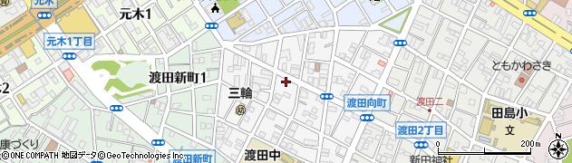神奈川県川崎市川崎区渡田向町周辺の地図