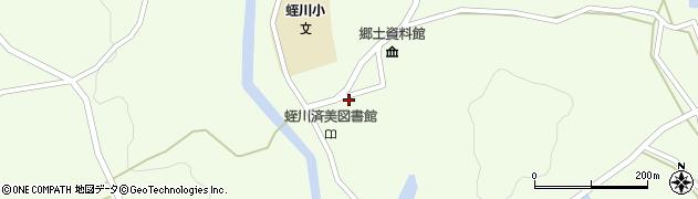 岐阜県中津川市蛭川周辺の地図