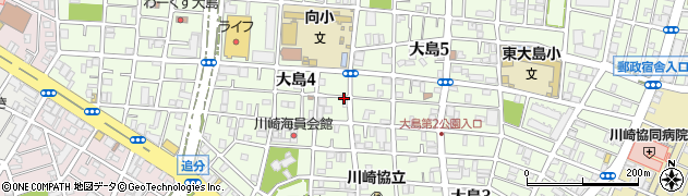 神奈川県川崎市川崎区大島周辺の地図