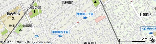 神奈川県相模原市南区東林間周辺の地図