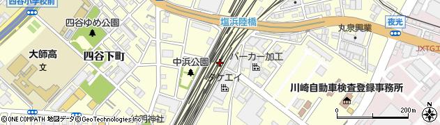 神奈川県川崎市川崎区塩浜周辺の地図