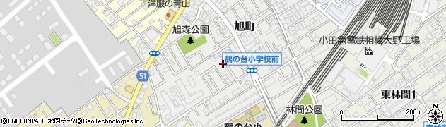 神奈川県相模原市南区旭町周辺の地図