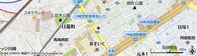 神奈川県川崎市川崎区南町8-8周辺の地図
