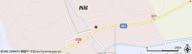 京都府舞鶴市西屋周辺の地図
