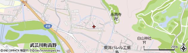 岐阜県関市武芸川町高野周辺の地図
