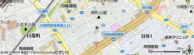 神奈川県川崎市川崎区南町周辺の地図