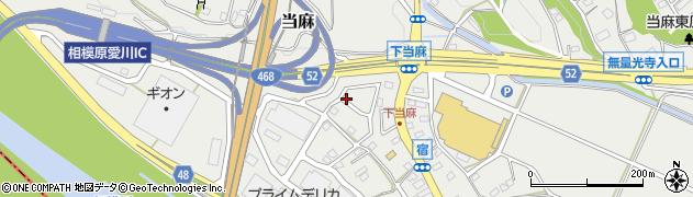神奈川県相模原市南区当麻周辺の地図