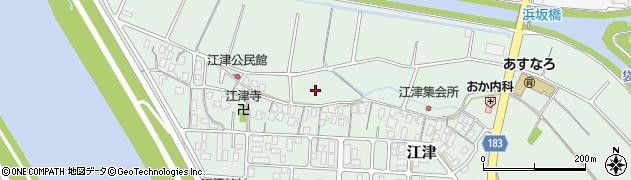 鳥取県鳥取市江津周辺の地図
