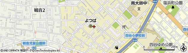 神奈川県川崎市川崎区四谷上町周辺の地図